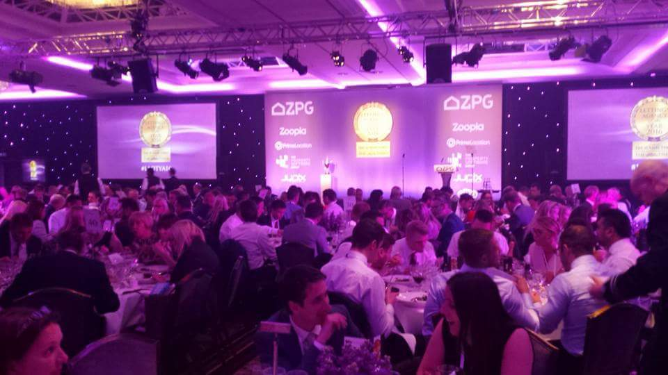 Lovett Diaries….Lovett Lettings at the Zoopla Lettings Awards 2016